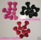 ✿ 5 or 10 SPARKLE BLING RESIN BOW FLAT BACK EMBELLISHMENT CRAFT HAIR BANDS ✿