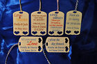 30 x Personalised Wedding Favour  Tags ~ 6 Designs