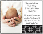 Personalized BOY GIRL Gift of Life SHOWER INVITATIONS  Postcards or Flat Cards