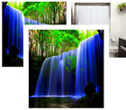 Waterfall  - Greenery Soft Polyester Fabric Shower Curtain - Decorative Colorful