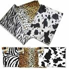 Cosmetic Bag Beauty Make up Case Animal Print Flat Wallet Pencil Cases A4 Size