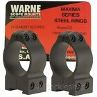 Warne Permanent Attached Steel Rifle Scope Rings for 16 or 19mm CZ Rails