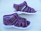 TODDLER FLAT SHOES SIZE 3-8 PURPLE/YELLOW