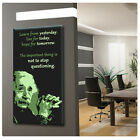 LARGE Canvas Albert Einstein GICLEE poster Text print photo Typographic Words