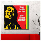 HUGE Canvas Bob Marley photo fine art Inspiration Typography wall Quotes repro