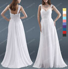New Elegant Beaded Wedding Bridesmaid Formal Gown Ball Evening Dress SP102 L