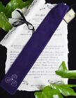 Handmade PURPLE VELVET WAND BAG wicca pagan Witchcraft Elven Star Faerie
