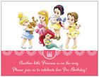 20  Princess Cinderella BABY Girl SHOWER Postcards Flat Cards Env Invitations