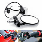 "7/8"" Motorcycle HandleBar 3"" Round End Mirror Cafe Racer Bobber Clubman  Black"