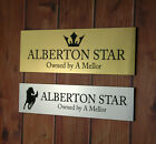 HORSE PONY PLAQUE STABLE STALL DOOR NAME SIGN PERSONALISED EQUESTRIAN