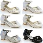 GIRLS WEDDING SHOES KIDS INFANTS PARTY DRESS BRIDESMAID FANCY DANCE SHOES SIZE