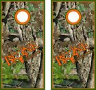 Camo Bone Collector Cornhole BagToss Game Sticker Decal Set Wrap Wraps