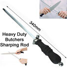 Knife file steel rod sharpening grind dress butcher chef tool honing stick ring