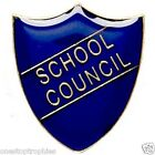 School Council Shield Badge available in Blue,Red, Green or Yellow Butterfly Pin