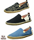 Mens Designer Bellfield Espadrilles Canvas Slip On Trainers Summer Flats Shoes