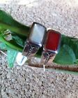 .925 Sterling Silver/Stone Signet Ring~Red Shell Or Mother of Pearl