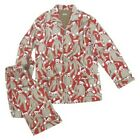 NICK & NORA SOCK MONKEY EXPLOSION MEN 100% COTTON FLANNEL 2 PC PAJAMA M L XL NWT