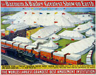 001 Vintage Circus Art Poster Barnum and Bailey Greatest Show