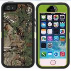 Military Shockproof Dirtproof Green Forest Impact Case for iPhone 5 5S