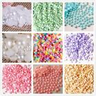 1000 pcs  Flat Back Round Resin Pearls (Not Acrylic)  Beads 2,3,4,5,6MM