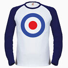 Mod Target Baseball T Shirt Scooter Vespa The Who Quadrophenia jimmy cooper