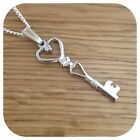 """Alice in Wonderland Key charm necklace  LONG 24"""" CHAIN"""