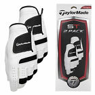 TAYLORMADE GOLF GLOVES ST X2 PACK MENS GOLF GLOVES WHITE DOUBLE PACK NEW