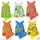 BN*GIRLS**NEON**FLORAL**TWO PIECE SUMMER DRESS TOP & LEGGINGS SE**T(3-10yr)