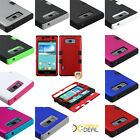 For LG Splendor Venice US730 Optimus Showtime L86C Rubber TUFF Hybrid Case Cover