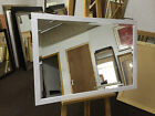 NEW MODERN WHITE WALL AND OVERMANTLE  MIRRORS(AJ301) - VARIOUS SIZES AVAILBLE