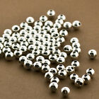Sterling Silver Beads. 4mm Sterling Silver Beads. Wholesale Seamless Beads.