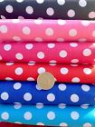 Pea Spot POLYCOTTON FABRIC Spotted Polka Dot Cerise Navy Red Pink Turquoise