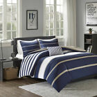 Quality BEAUTIFUL MODERN REVERSIBLE BLUE NAVY CHEVRON RUF...
