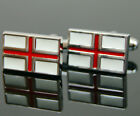 New Stainless Steel English Flag of England Cuff links Cufflinks Perfect Gift