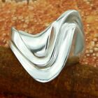 STERLING SILVER WAVES RING SOLID .925 /NEW SIZE 5-12 JEWELRY