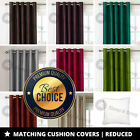 Luxury Pair Of Faux Silk Fully Lined Eyelet Curtains Inc Tie Backs*Sale Price*