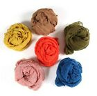 Women Long Big Crinkle Voile Soft Scarf Wrap Shawl Stole Pure Candy color F118
