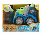 Double Bubble New Electronic Bubbles Machine Lawn Mower Garden Outdoors Toys