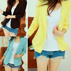 Casual Fashion Women OLCareer Outerwear Long Sleeve Suit Blazer Coat Jacket
