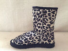 Lady ugg Boots Classic Short Synthetic Wool Colour Black Leopard Multi Size