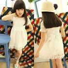 Girls Kids Toddlers Hook Flower See-Through Multi-Layer Tulle Lined Dress D542