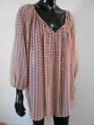 New Ladies Nude, Black & Red Patterned Chiffon Top Plus Size 16 - 32