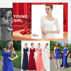 Womens Vintage Black Lace Sleeves Long Winter Evening Formal Party Dresses 08038
