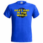 Best Dad In The World T Shirt Fathers Day Birthday Present Gift Xmas Small - 5XL