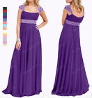 New Elegant Beaded Bridesmaid Wedding Formal Gown Ball Evening Dress SP65 L O