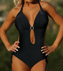Sexy New black One Piece MONOKINI SWIMSUIT SWIMWEAR US SIZE M L XL XXL XXXL