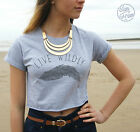 LIVE WILDLY Crop Top Tank Fashion Tumblr Dope Feather Freely Vogue Hipster OOTD