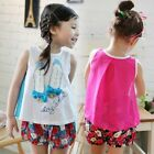 Summer Fashion Kids girls' T-shirts Shoes Pattern kids Girl Tops shirt 2-7Y