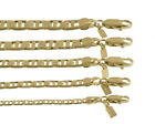 18K Gold Ep Mariner Link Chain Necklace/Bracelet Made In USA -LIFETIME WARRANTY