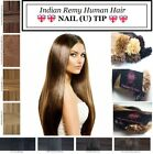 """18"""" 1G 100's PRE-BONDED, GLUE IN, Indian Remy NAIL TIP HUMAN Hair Extensions"""